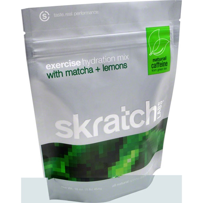 Skratch Labs Exercise Hydration Drink Mix - Matcha Green Tea and Lemons (20 Servings Bag)