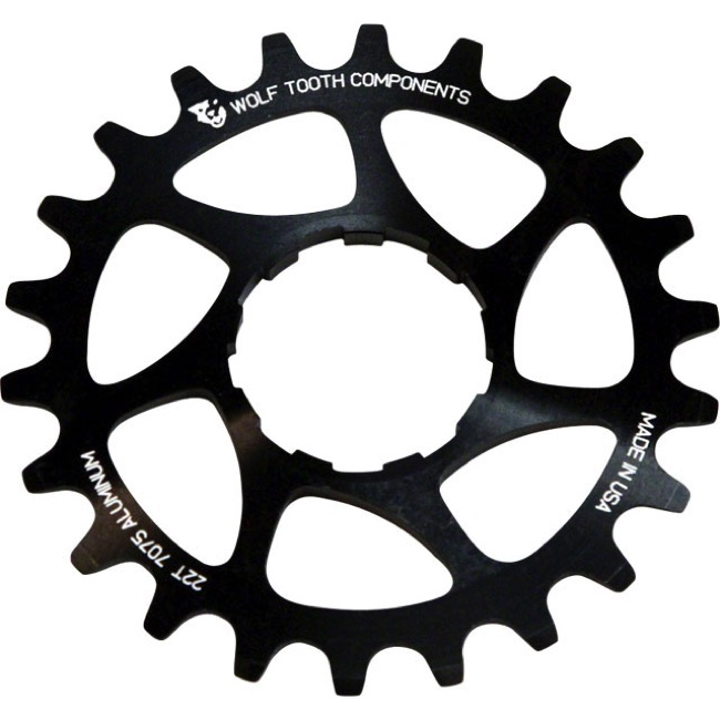 Wolf Tooth Components Single Speed Alloy Cogs - 18 Tooth (Black)