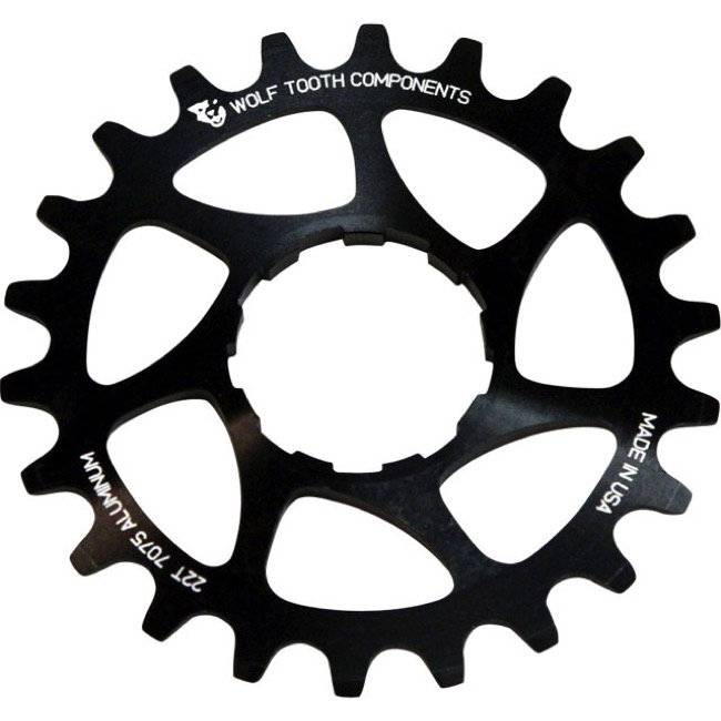 Wolf Tooth Components Single Speed Alloy Cogs - 20 Tooth (Black)