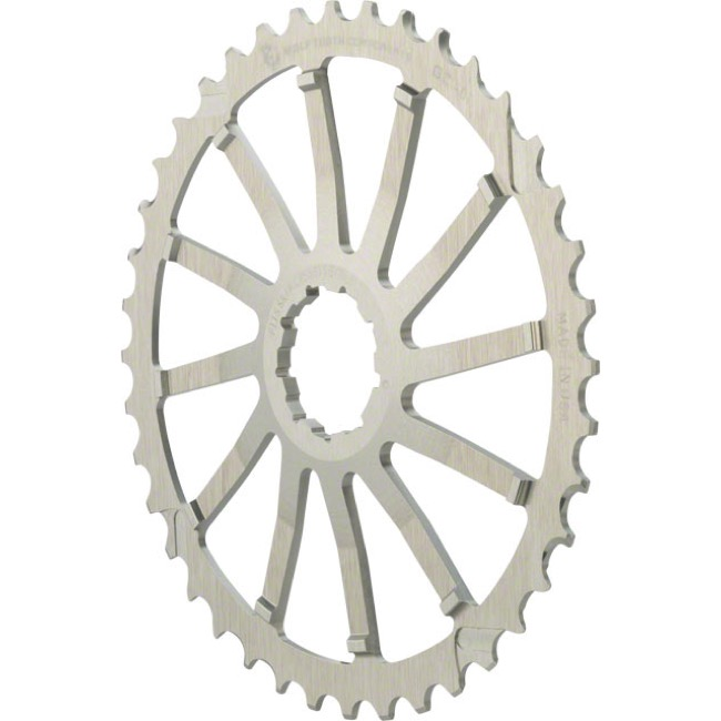 Wolf Tooth Components GC 40/42 Cogs - 10 Speed Shimano/Sram - 42 Tooth, Silver (Sram 36t Compatible)