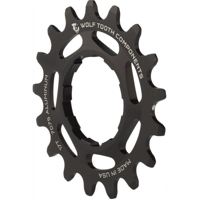 Wolf Tooth Components Single Speed Alloy Cogs - 17 Tooth (Black)