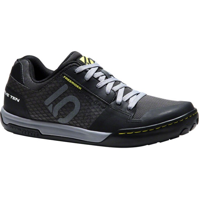 Five Ten Freerider Contact Flat Shoe - Black/Lime - Size 14 (Black/Lime)