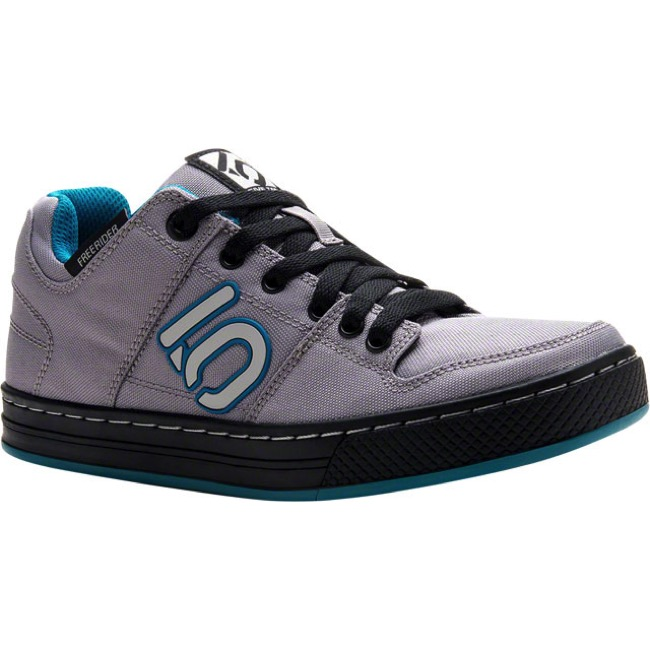 Five Ten Freerider Canvas Women's Flat Shoe - Gray/Teal - Size 9.5 (Gray/Teal)
