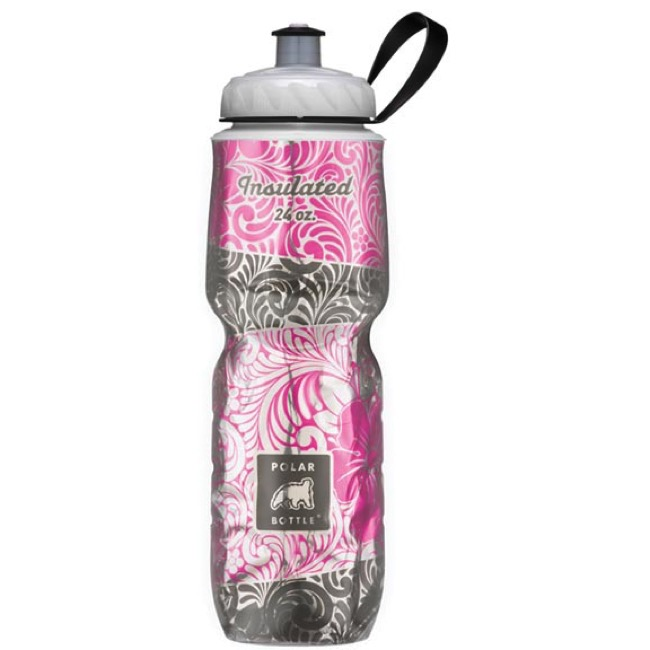 Polar Bottle Insulated Water Bottle - 24 Ounce - 24 oz. (Island Blossom)