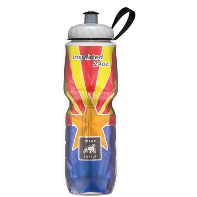 Polar Bottle Insulated Water Bottle - 24 Ounce - 24 oz. (Arizona State Flag)