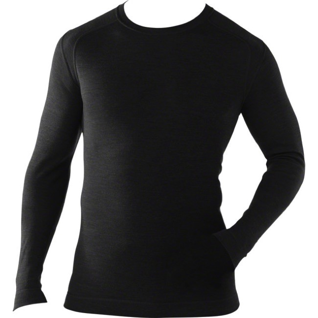 Smartwool Microweight Base Layer Crew Top - X Large (Black)