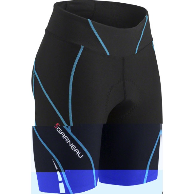"Louis Garneau 7"" Neo Power Motion Women's Short - Black/Blue - Medium (Black/Blue)"