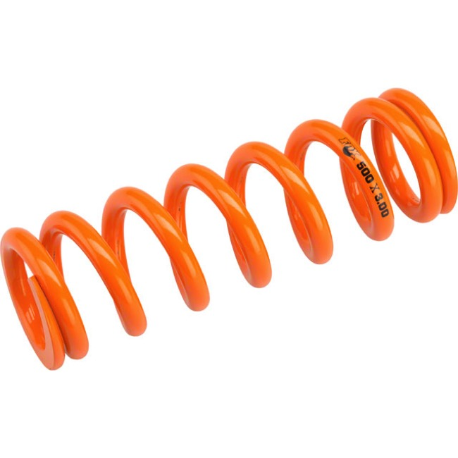 "Fox Racing Shox SLS Rear Spring - 3.00"" x 500# (Orange)"
