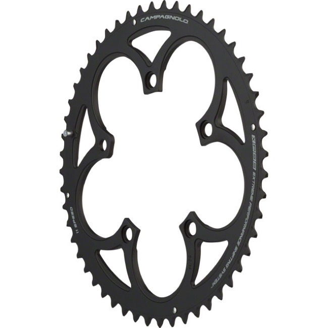 Campagnolo Compact 11 Speed Chainrings - 110mm x 52t for 36t Inner '11-'14 SR/Record/Chorus (Grey)