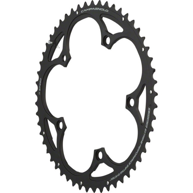 Campagnolo Compact 11 Speed Chainrings - 110mm x 53t for 39t Inner '11-'14 SR/Record/Chorus (Grey)