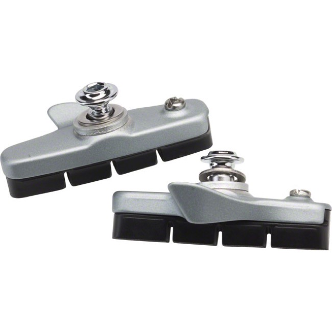 Shimano 105 Cartridge Brake Shoes - Pair (Silver)