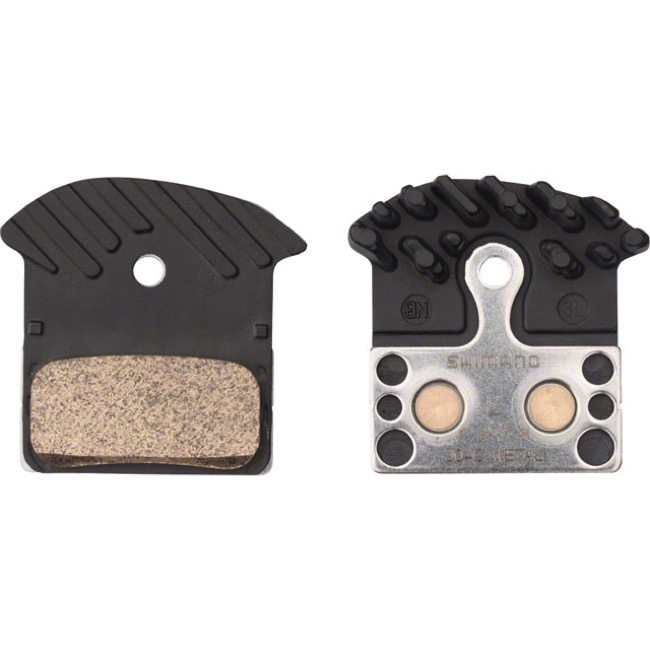 Shimano Disc Pads - J04C Metal with Fin/Stainless Back (XTR M9000/9020/RS785)