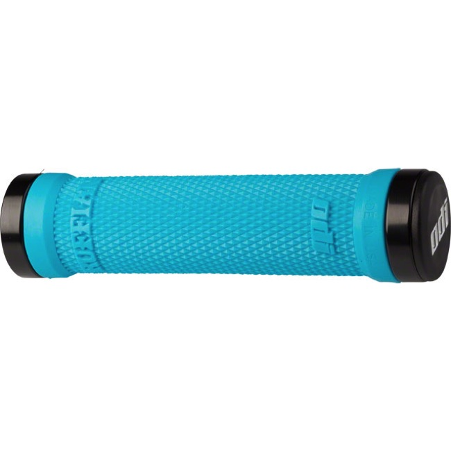 ODI Ruffian Lock-On Grips - Bonus Pack (Aqua Grips/Black Clamps)