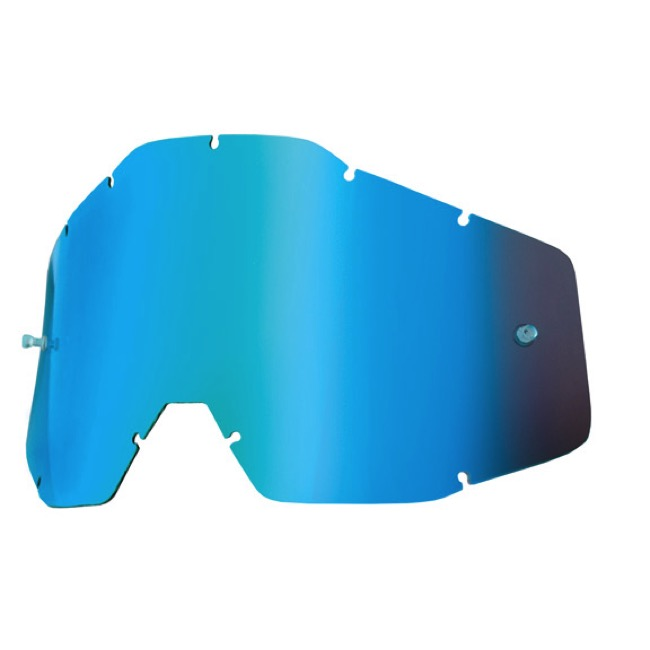 100% Goggles Replacement Lenses - Single Lens (Blue Mirror)