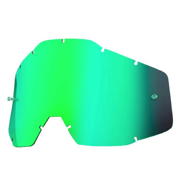 100% Goggles Replacement Lenses - Single Lens (Green Mirror)
