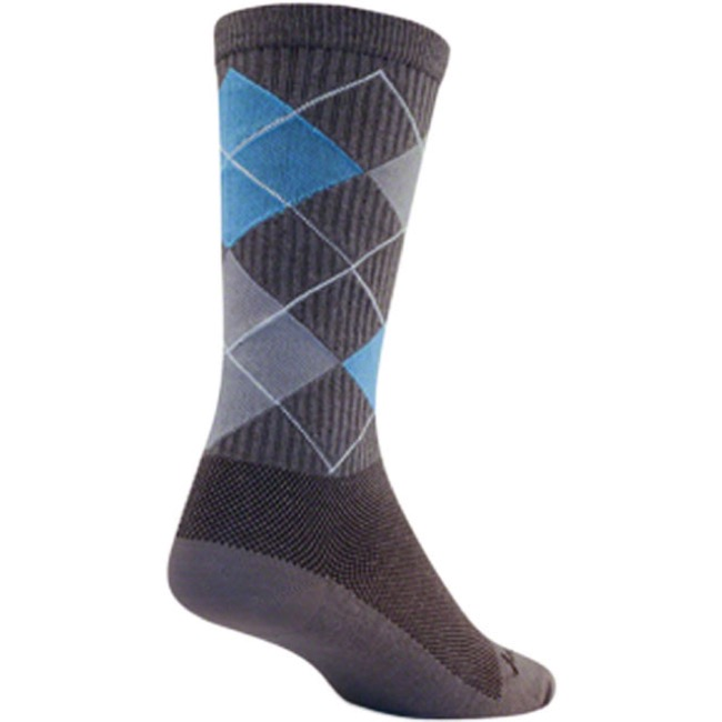 SockGuy Stay Classy Crew Socks - Grey - Small/Medium (Gray)