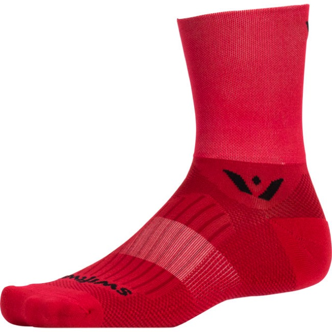 Swiftwick Aspire Four Socks - Red - Large (Red)