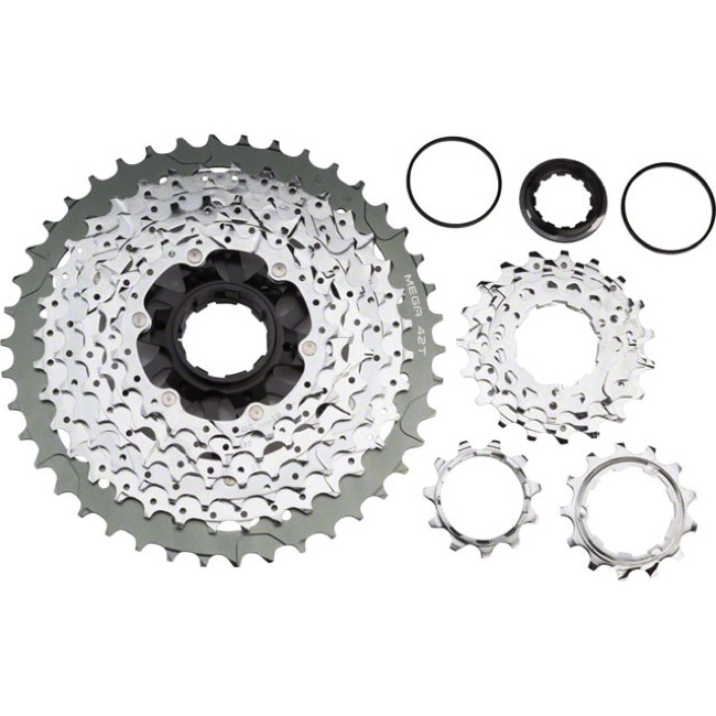 MicroShift CS-G110 Wide-Range MTB 11sp Cassette - 11-42t, Chrome (11,13,15,17,19,21,24,28,32,36,42)