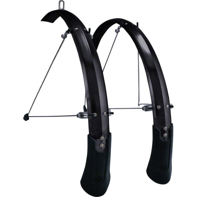 "Planet Bike Cascadia ALX 27.5"" Fenders - Wide, 27.5"" (650b) x 60mm (Black)"