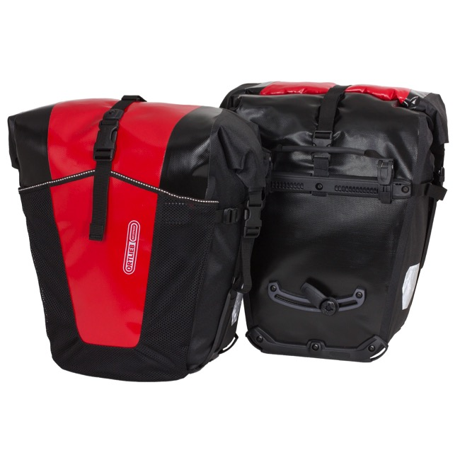 Ortlieb Back-Roller Pro Classic Rear Panniers - Red/Black (Pair)