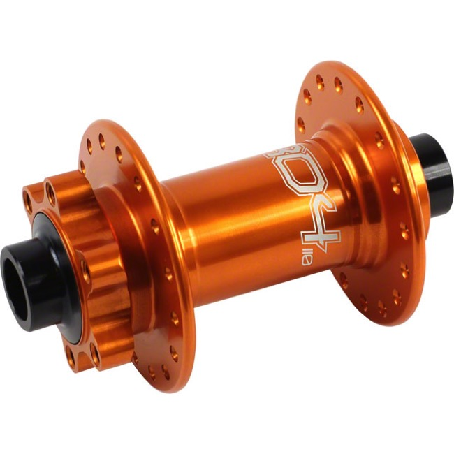 "Hope Pro 4 ""Boost"" 15mm Front Disc Hub - 15 x 110mm ""Boost"" Thru Axle - 110mm x 15mm ""Boost"" Thru Axle x 32 Hole (Orange)"