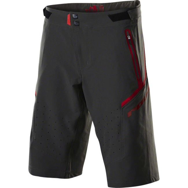 Royal Racing Impact Shorts - Charcoal/Flo Red - Medium (Charcoal/Flo Red)