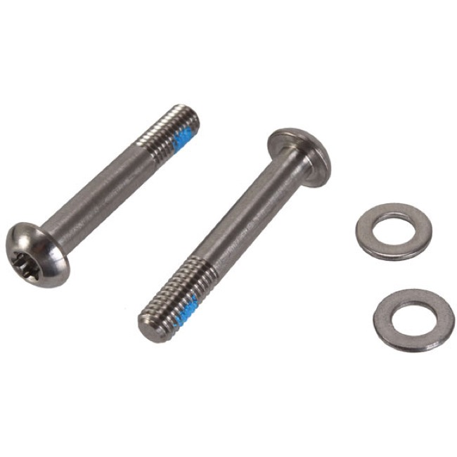 Sram/Avid Flat Mount Disc Brake Adapters and Hardw - 32mm T25 Mounting Bolts, Pair (Titanium)