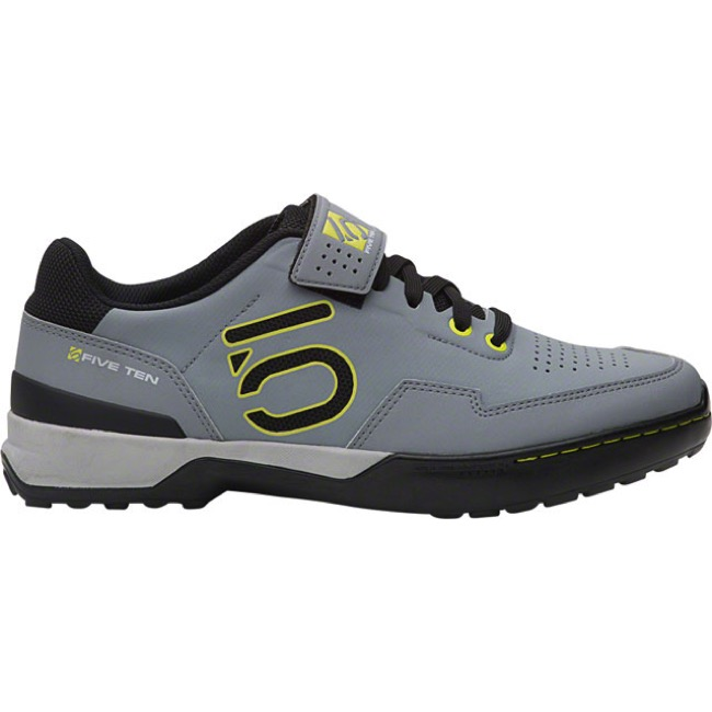 Five Ten Kestrel Lace Clipless Shoe - Onix/Yellow - Size 8 (Onix/Yellow)
