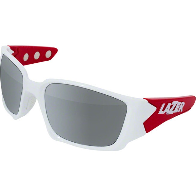 Lazer Magneto M2 Glasses - Gloss White/Red - Gloss White/Red