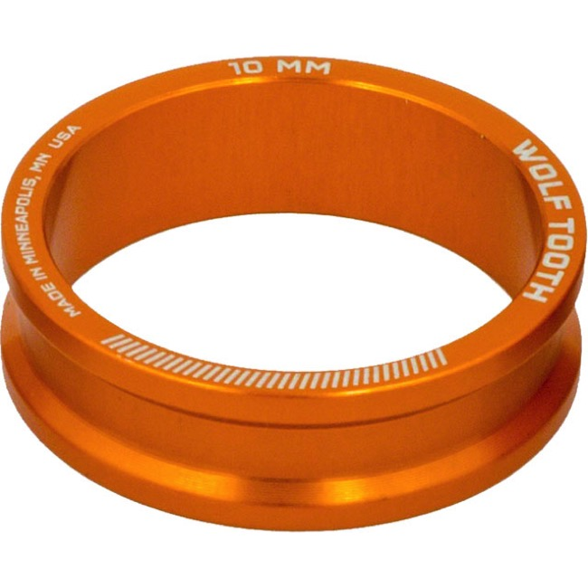 "Wolf Tooth Components Headset Spacers - 1 1/8"" x 10mm Bag of 5 (Orange)"