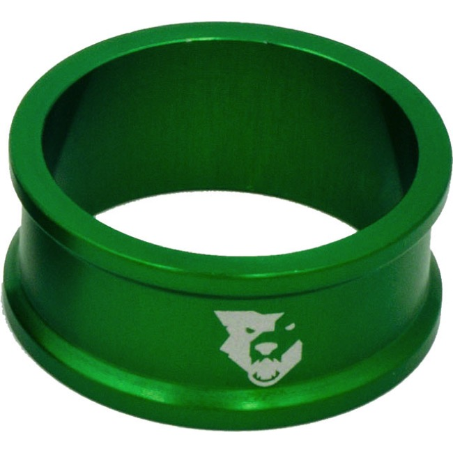 "Wolf Tooth Components Headset Spacers - 1 1/8"" x 15mm Bag of 5 (Green)"