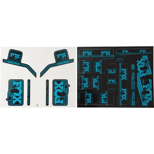 Fox Racing Shox Heritage Decal Sets 2017 - Turquoise