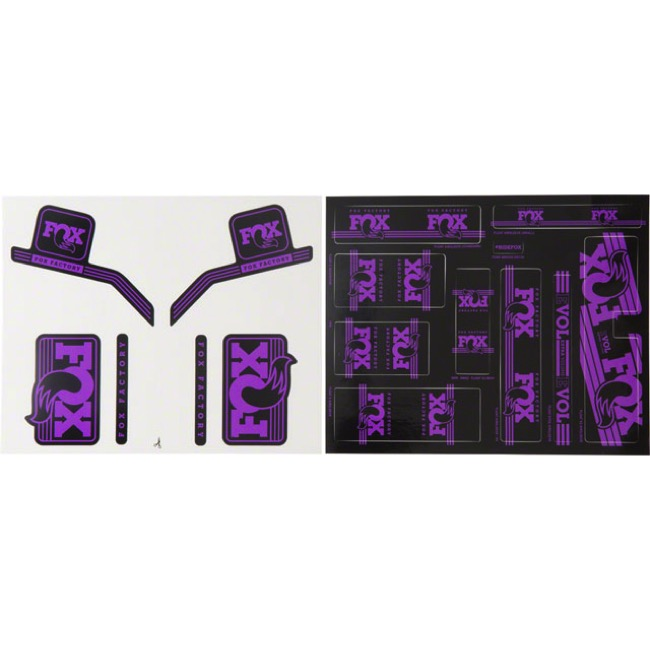 Fox Racing Shox Heritage Decal Sets 2017 - Purple