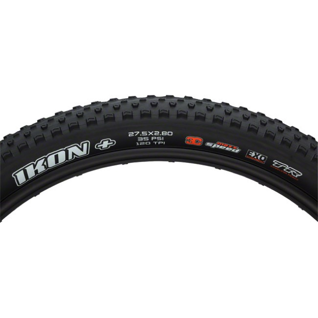 "Maxxis Ikon 3C/EXO TR 27.5"" Plus Tires - 27.5 x 2.8"" (Folding Bead)"