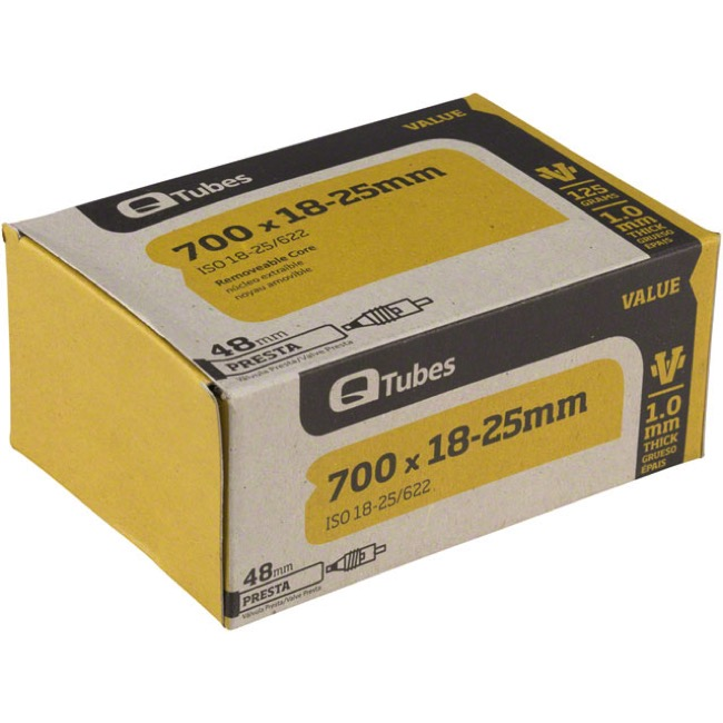 Q Tubes Value Series Presta Tubes - 700c - 700 x 18-25c (48mm PV)