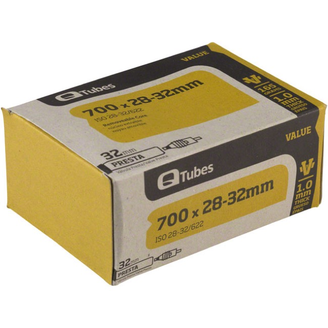 Q Tubes Value Series Presta Tubes - 700c - 700 x 28-32c (32mm PV)