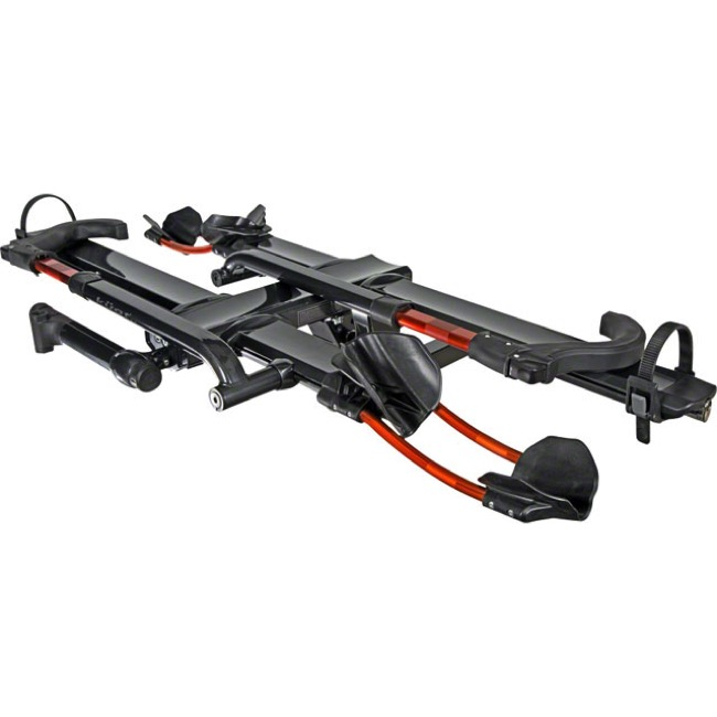 "Kuat NV 2.0 Hitch Racks - 2-Bike Rack, 1 1/4"" Hitch (Metallic Gray/Orange)"