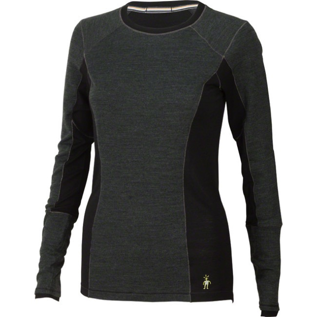 Smartwool PhD Light Women's Long Sleeve Top - Charcoal Heather - Large (Charcoal Heather)