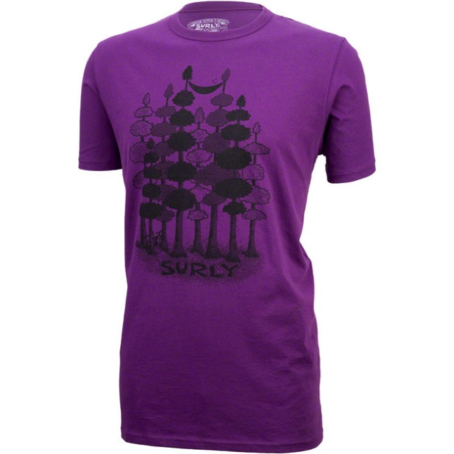 Surly Sacked Men's T-Shirt - Purple - Small (Purple)