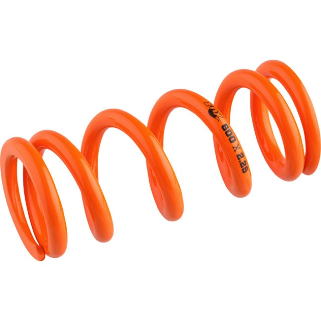"Fox Racing Shox SLS Rear Spring - 2.25"" x 500# (Orange)"