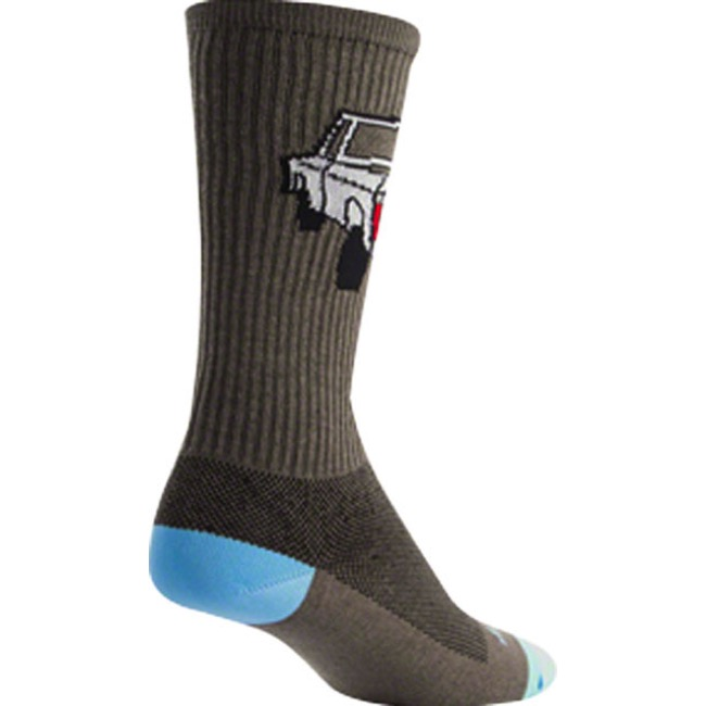 "SockGuy Trucker Crew Socks - 6"" Crew Cuff - Small/Medium (Gray)"