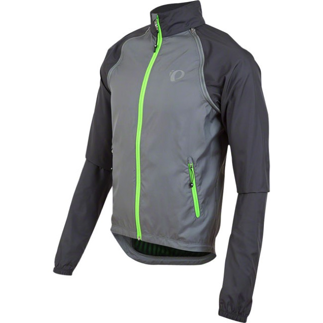 Pearl Izumi Elite Barrier Convertible Jacket - Monument/Smoked Pearl - Large (Monument/Smoked Pearl)