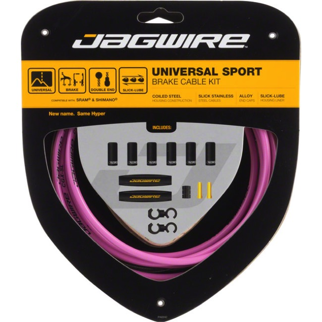 Jagwire Universal Sport Brake Cable/Housing Set - Pink
