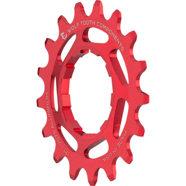 Wolf Tooth Components Single Speed Alloy Cogs - 17 Tooth (Red)