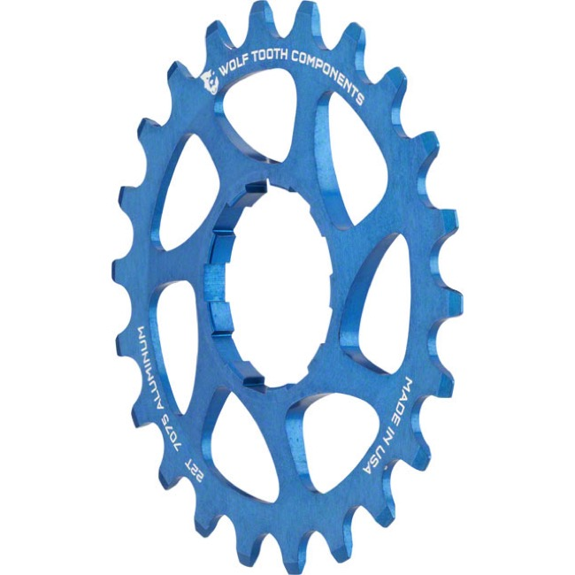 Wolf Tooth Components Single Speed Alloy Cogs - 22 Tooth (Blue)