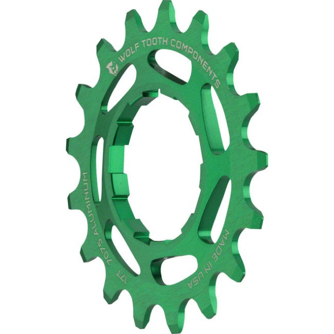 Wolf Tooth Components Single Speed Alloy Cogs - 17 Tooth (Green)