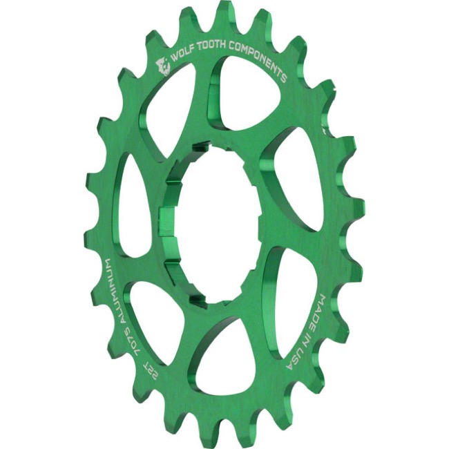 Wolf Tooth Components Single Speed Alloy Cogs - 22 Tooth (Green)