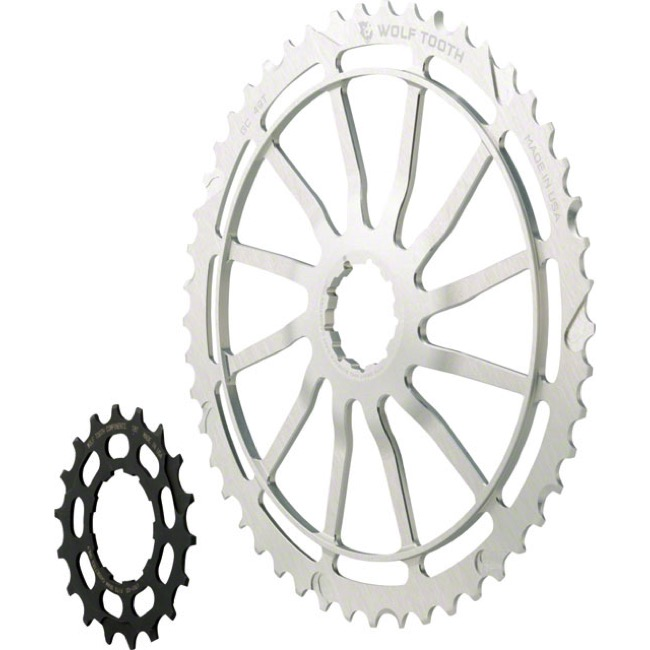 Wolf Tooth Components GC 49 Cog Bundles - 11 Speed Sram NX/SunRace - 49 Tooth + 18 Tooth Cog, Sram NX/SunRace 11 Speed (Silver)