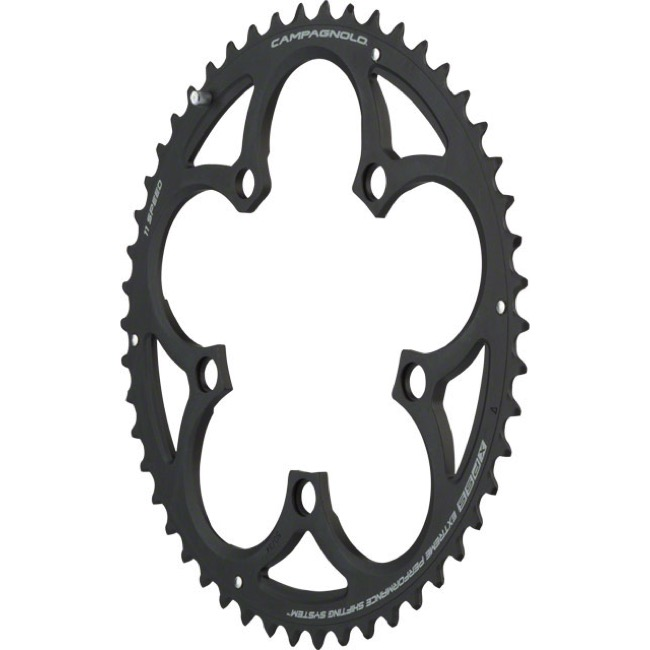 Campagnolo Compact 11 Speed Chainrings - 110mm x 50t for 34t Inner, Athena '14+ (Black)