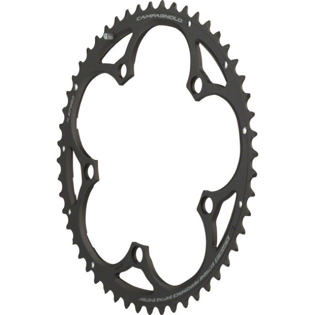Campagnolo Compact 11 Speed Chainrings - 110mm x 52t for 39t Inner, Athena '14+ (Black)